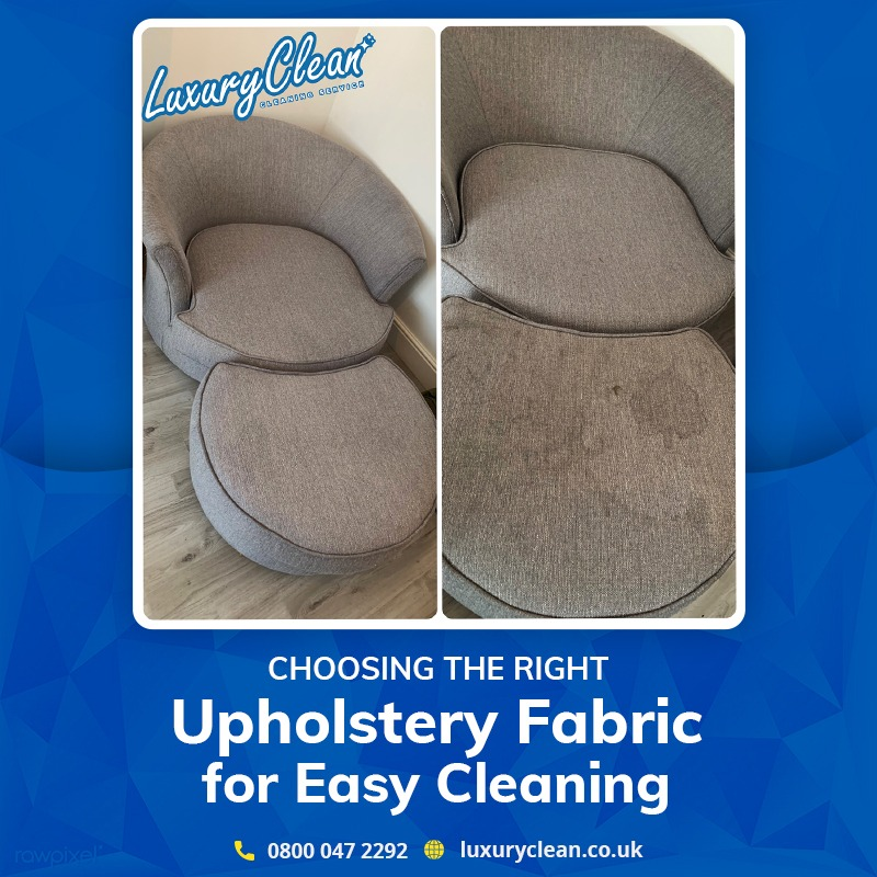 How to Choose the Right Upholstery Fabric for Easy Cleaning?